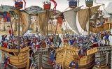 Quadre que representa les Vespres Sicilianes, l'inici de la guerra de Sicília