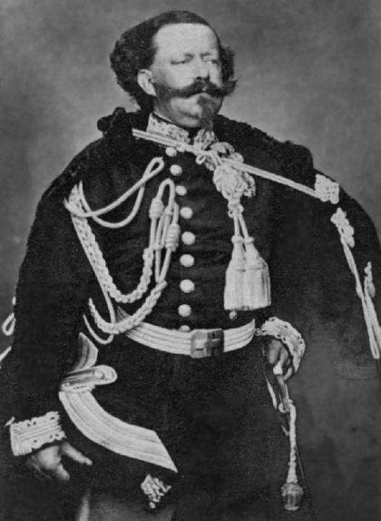 Retrat de Víctor Manuel II, el darrer rei de Sardenya i primer d'Itàlia
