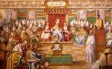 Fresc de la Capella Sixtina que representa el concili de Nicea