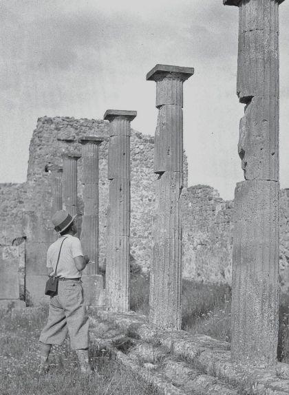 Les ruïnes de la ciutat romana de Pompeia van ser un dels indrets més retratats pels estudiants