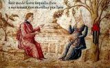 Laura i Petrarca, miniatura del 'Cançoner'