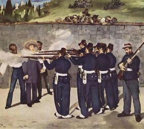 'L'execució de l'emperador Maximilià de Mèxic', d'Édouard Manet