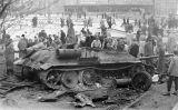 Un tanc soviètic T34-85 a Budapest durant la revolució hongaresa del 1956