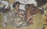Mosaic d'Alexandre el Gran que representa la batalla d'Issos. Es conserva a la Casa del Faune, a Pompeia