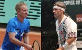 John McEnroe (a l'esquerra) i Björn Borg (a la dreta)