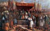 Saladí i Guiu de Lusignan després de la batalla de Hattin