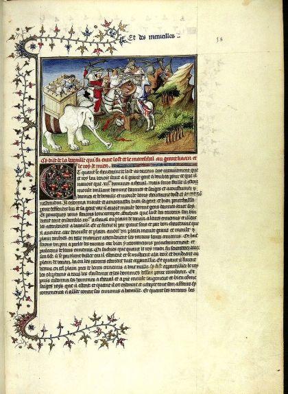 Pàgina del 'Llibre de les meravelles del món', obra de Marco Polo