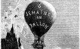 Il·lustració de l'obra 'Cinc setmanes en globus' de Jules Verne