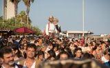 Espectacle de gegants a les Festes del Mar de Castelldefels