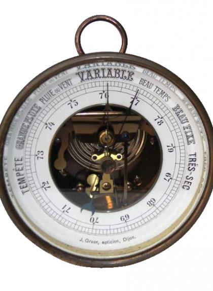 Imatge d'un baròmetre de principis del segle XX