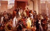 'El papa Urbà II predicant la primera croada a la plaça de Clermont', obra de Francesco Hayez