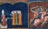Il·lustració de la croada contra els albigesos a 'Les grans cròniques de França'