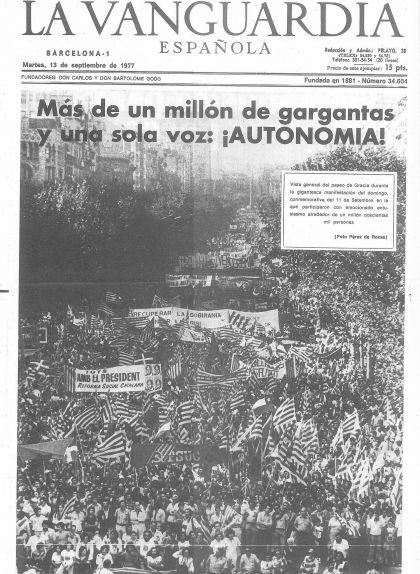 Potada de 'La Vangurdia' del 13 de setembre de 1977