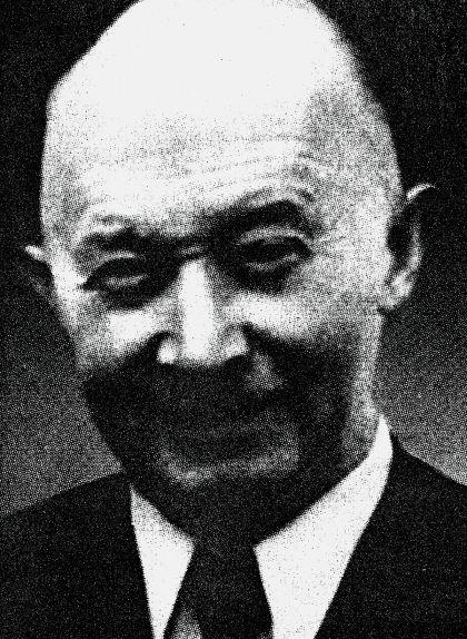 Retrat d'Hugo Boss, fundador el 1923 d'un taller de sastreria a Metzingen que portaria el seu nom