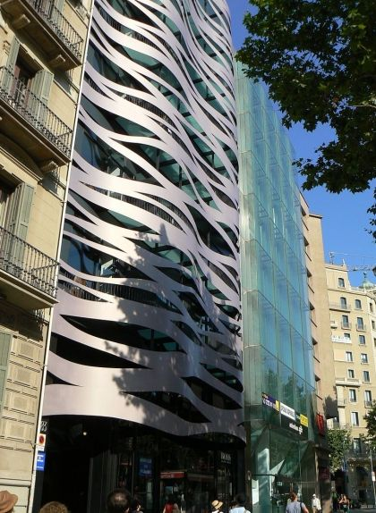 Botiga de la firma Hugo Boss al Passeig de Gràcia de Barcelona
