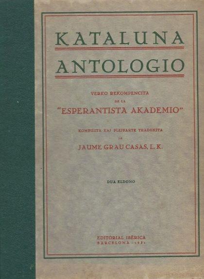 El llibre 'Kataluna Antologio', un recull antològic de la literatura catalana en esperanto publicat el 1925