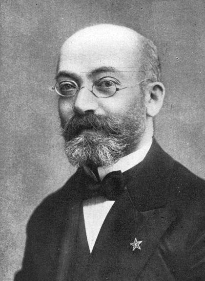 Retrat del polonès Lejzer Ludwik Zamenhof, inventor de l'esperanto l'any 1887