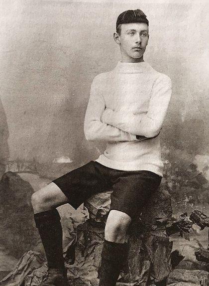 Retrat de Hans Gamper l'any 1896 durant la seva etapa com a futbolista