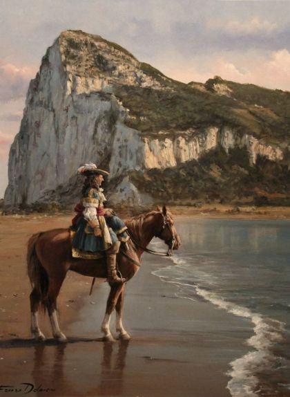 'L'últim de Gibraltar', obra d'Augusto Ferrer-Dalmau, mostra el governador Diego de Salinas el 1704