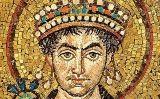 L'emperador Justinià en un mosaic a San Vital, a Ravenna