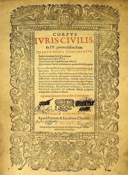 Reproducció del 'Corpus Iuris Civilis' de Justinià del 1626