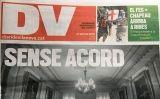 La darrera portada del 'Diari de Vilanova', del 28 d'abril de 2018