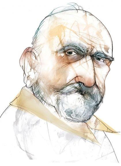 Caricatura de Jaume Ferran Clua, obra d'Eulogia Merle
