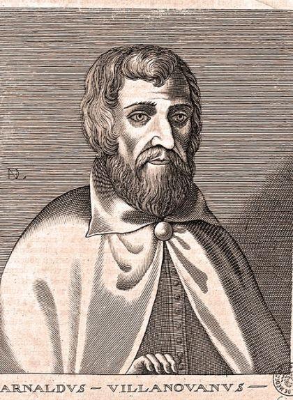 Retrat d'Arnau de Vilanova, el primer destil·lador d'alcohol