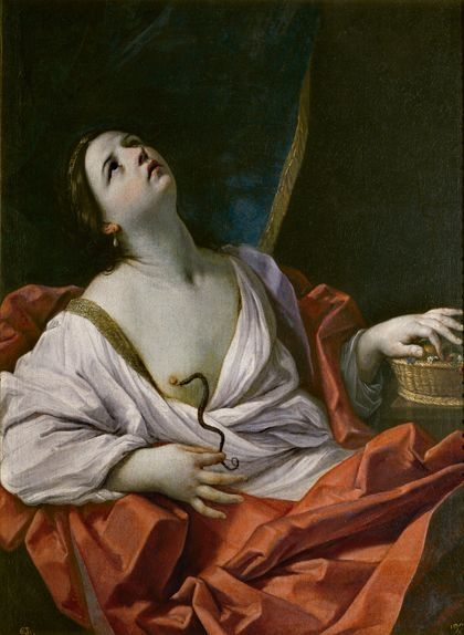 La mort de Cleòpatra segons Guido Reni en una pintura del 1640
