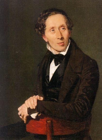 Retrat de Hans Christian Andersen del 1836 obra de Christian Albrecht Jensen