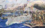 El desembarcament de l'armada espanyola a Alhucemas el 8 de setembre del 1925, obra de José Moreno Carbonero