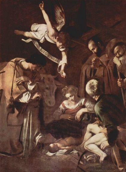 'Nativitat amb Sant Francesc i Sant Llorenç' (1609), de Caravaggio