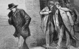 """With the Vigilance Committee in the East End: A Suspicious Character"", una il·lustració apareguda a 'The Illustrated London News' el 13 d'octubre del 1888"