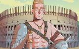 Il·lustració d'un gladiador romà al Colosseu