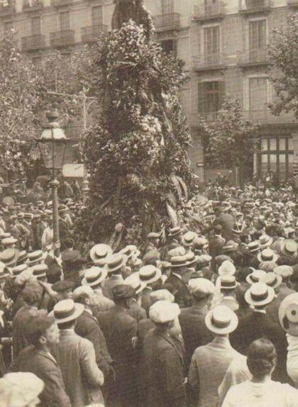 Homenatge a Rafael Casanova durant la Diada del 1914