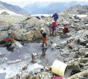 El lloc on es va trobar el cos congelat d'Ötzi, a la serralada d'Ötztal, al Tirol del Sud