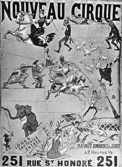 Cartell publicitari del Nouveau Cirque, inaugurat per Oller el 1886