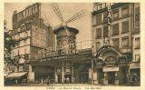 El Moulin Rouge en una postal del 1900