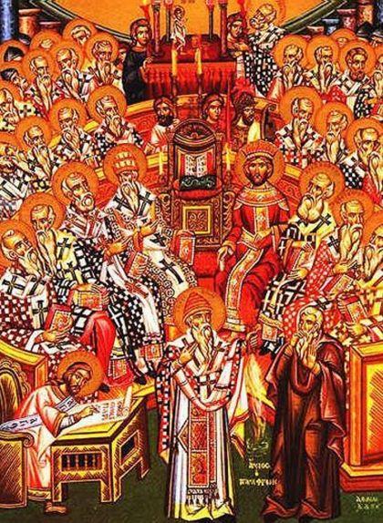 Representació del concili I de Nicea