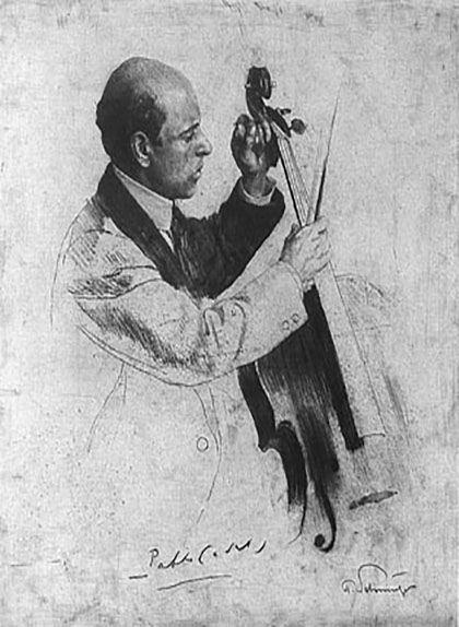 Retrat del violoncelista Pau Casals