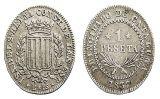 Pesseta, moneda d'argent del Principat, a nom d'Isabel II
