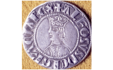 Croat barceloní d'Alfons II amb l'efígie del monarca