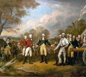 Rendició del general Burgoyne després de la batalla