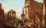 Pintura de Panini sobre la caiguda de Roma