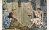 Alexandre el Gran amb el seu mentor Aristòtil