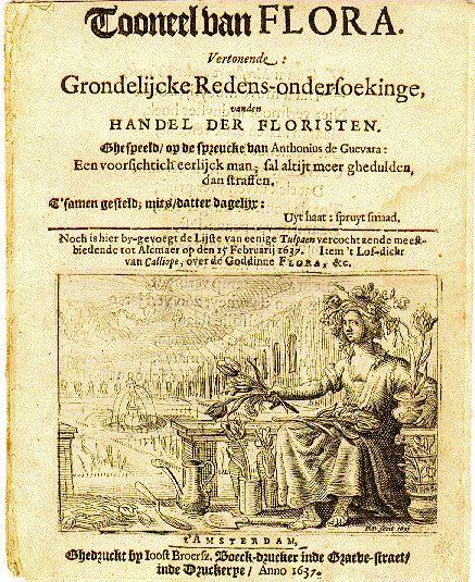Pamflet sobre la tulipamania imprès en 1637