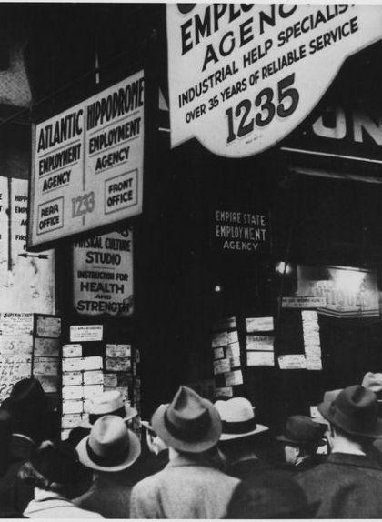 Parats buscant treball durant la Gran Depressió