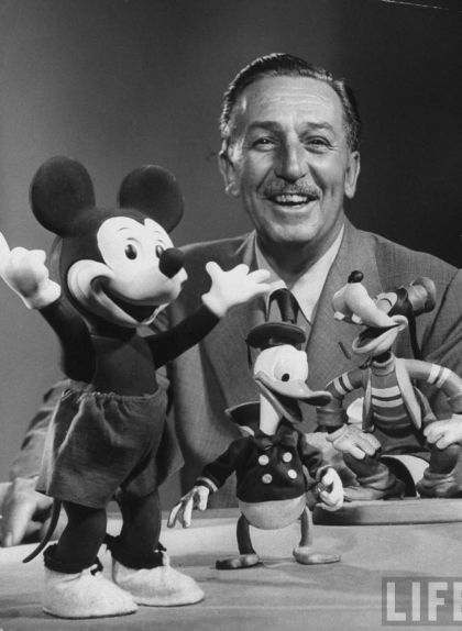 Walt Disney amb Mickey Mouse