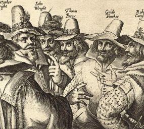 Els responsables del complot en un dibuix de Crispijn van de Passe