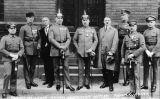 Adolf Hitler amb altres acusats durant el seu judici pel putsch de Munic